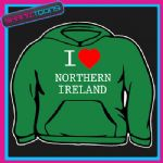 I LOVE HEART NORTHERN IRELAND ULSTER HOODIE